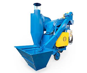 Зерноочиститель ОВС-25ЦБ укомплектован циклоном и бункером для загрузки зерна