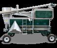 Мобильная зерноочистительная машина ОВС-355ЦМШ со шнеком, бункером и циклоном для подготовки семян и очистки зерна