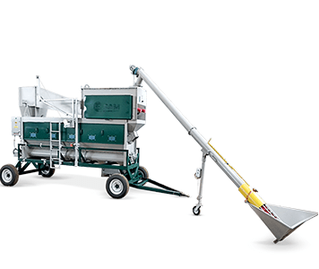 Mobile grain cleaning machine OBC-355CMA with loading system